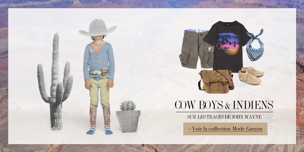 isabelle reynier graphiste - banner cowboys pour Smallable
